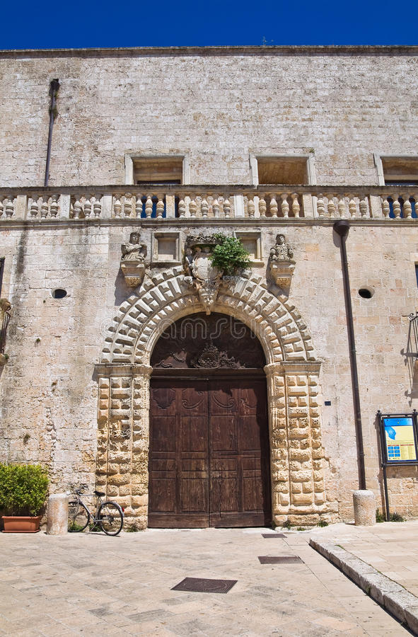 Risolopaleis. Specchia. Puglia. Italië. royalty-vrije stock afbeeldingen