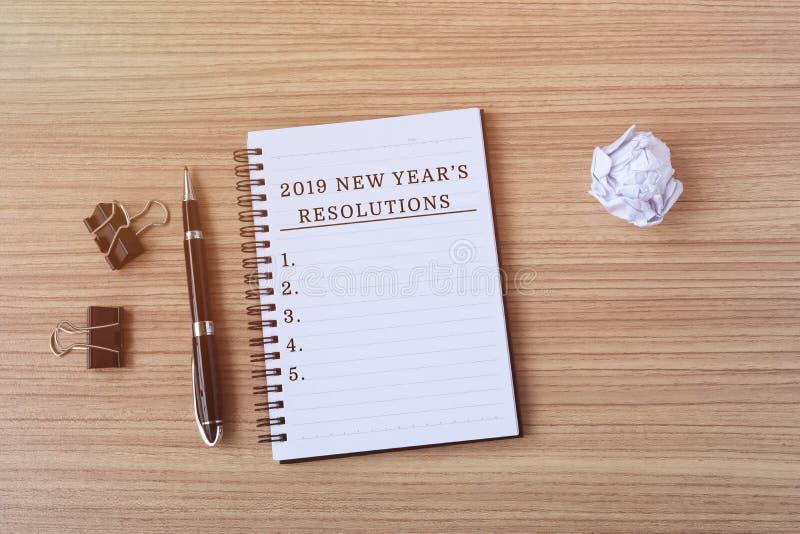Risoluzione del ` s da 2019 nuovi anni immagini stock libere da diritti