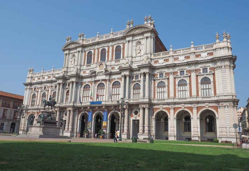 Risorgimento国家博物馆在都灵 免版税库存照片