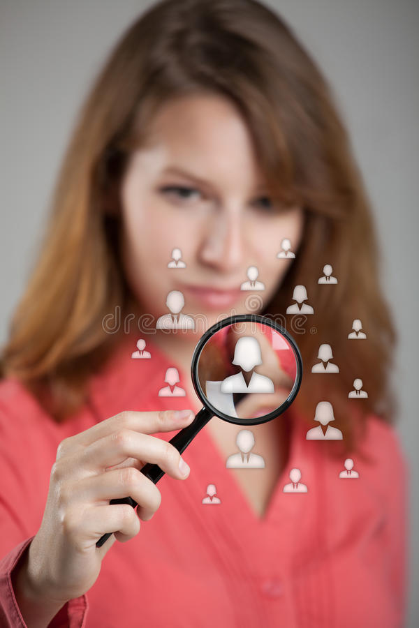 Risorse umane e CRM immagine stock