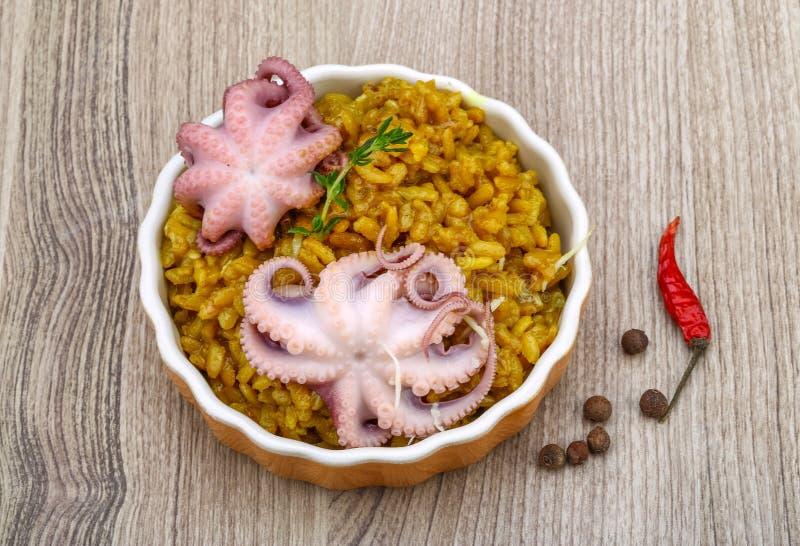 Risotto продуктов моря стоковое изображение rf