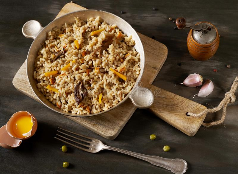 Risotto from above royalty free stock photography