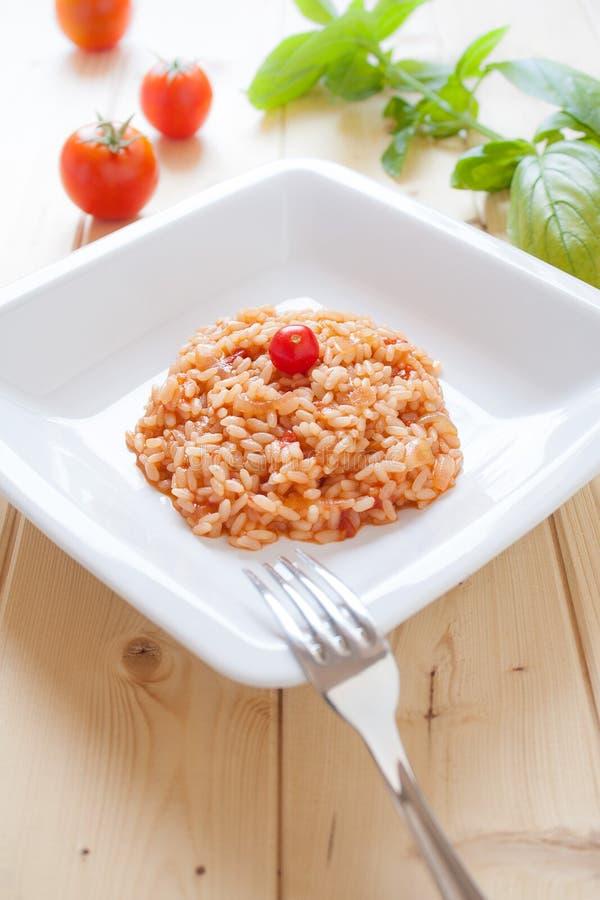 Download Risotto al pomodoro stock photo. Image of tasty, basil - 26106006