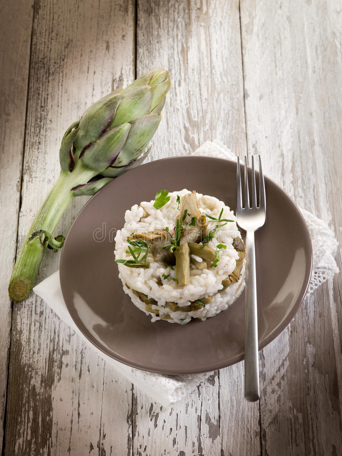 Download Risotto with artichokes stock image. Image of italian - 22009905