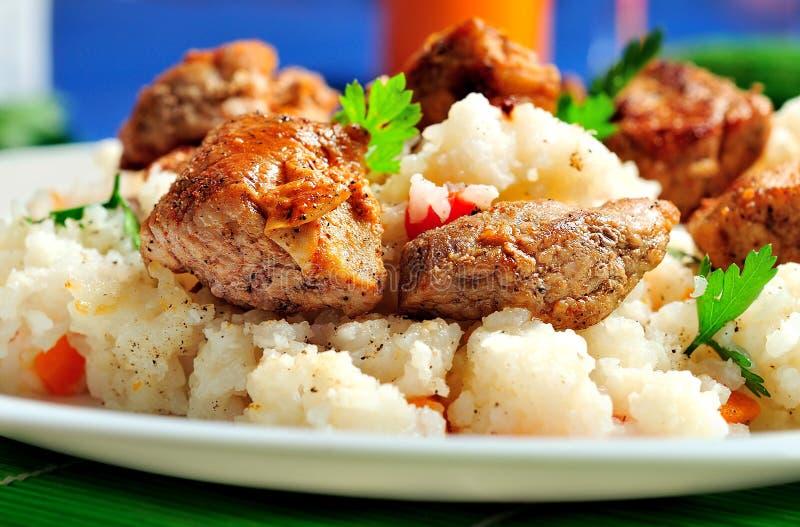 Download Risotto avec de la viande image stock. Image du sain - 45360417