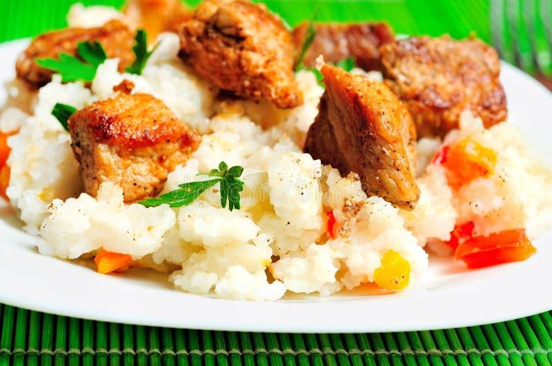 Download Risotto avec de la viande image stock. Image du frais - 45360435