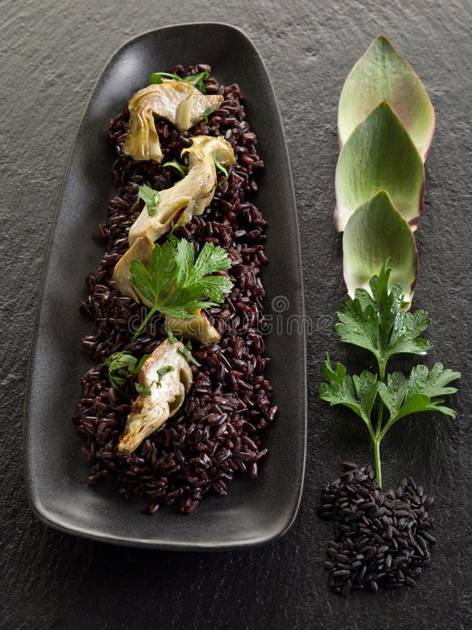 Download Risotto with black rice stock photo. Image of closeup - 22010120