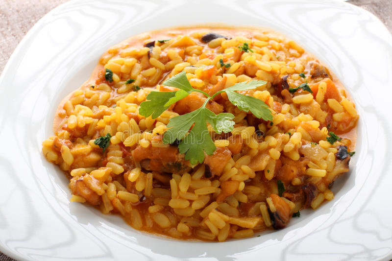 Risotto do marisco fotos de stock royalty free