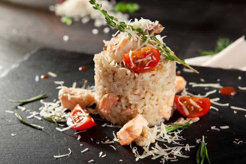 Risotto gastronomico dei frutti di mare fotografia stock libera da diritti