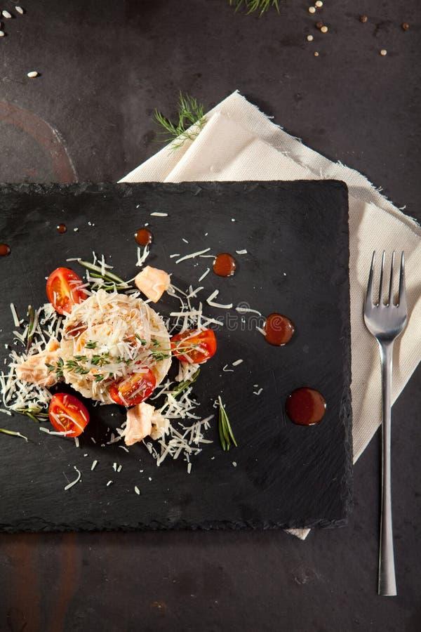 Risotto gastronomico dei frutti di mare immagine stock