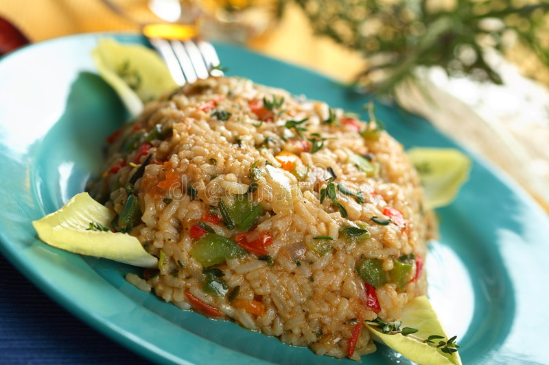 Download Risotto With Herbs And Eyeball Stock Photo - Image: 2085604