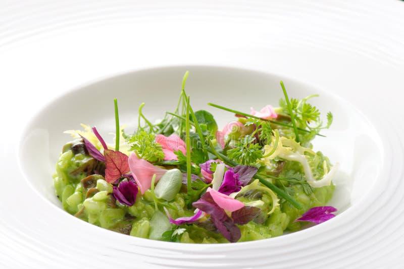 Risotto mit Gemüse und Pilzen lizenzfreies stockfoto