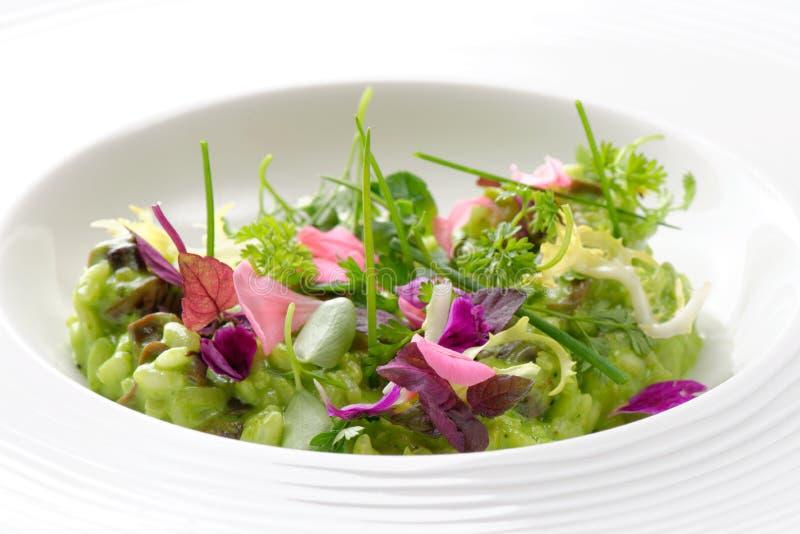 Risotto mit Gemüse und Pilzen lizenzfreie stockbilder