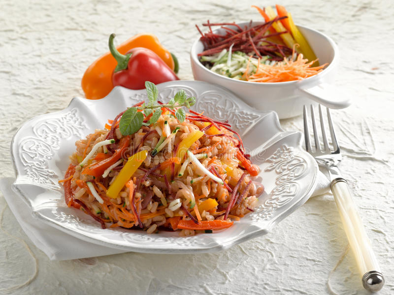 Download Risotto With Mixed Sliced Vegetables Stock Photo - Image: 22901390