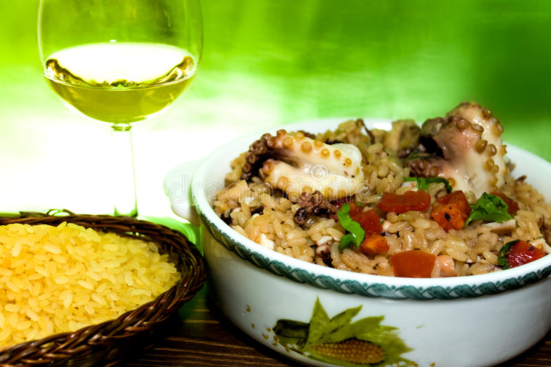 Risotto With Octopus stock photography