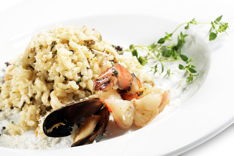 risotto owoce morza obrazy royalty free