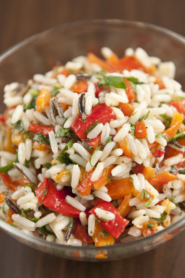 Risotto with peppers royalty free stock photo