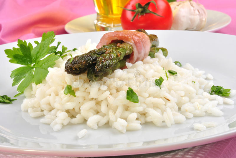 Download Risotto Rice With Asparagus And Parsley Stock Photo - Image: 17283626