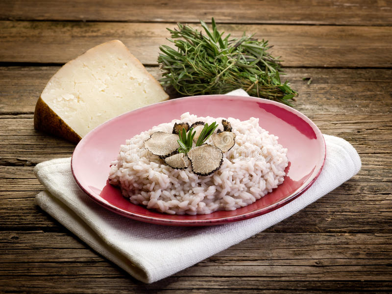 Risotto With Truffle Stock Images