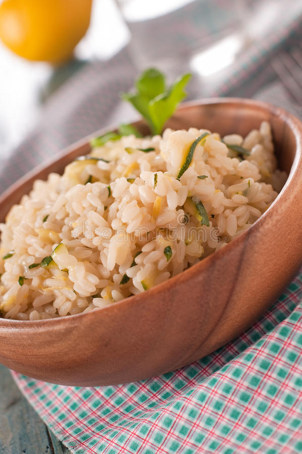 Risotto With Zucchini And Lemon Stock Photo