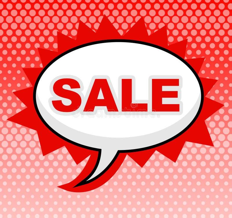 Risparmi dell'esposizione di mezzi del segno di vendita e promozionale royalty illustrazione gratis