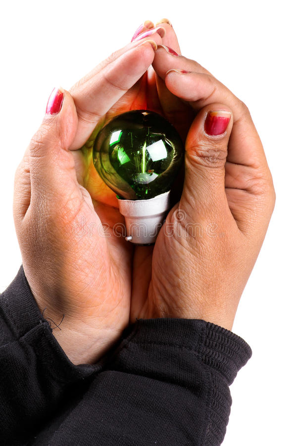Risparmi l'energia fotografie stock libere da diritti