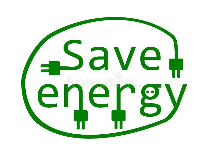 Risparmi l'energia. illustrazione di stock