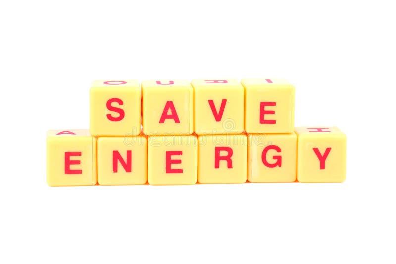 Risparmiare energia immagine stock