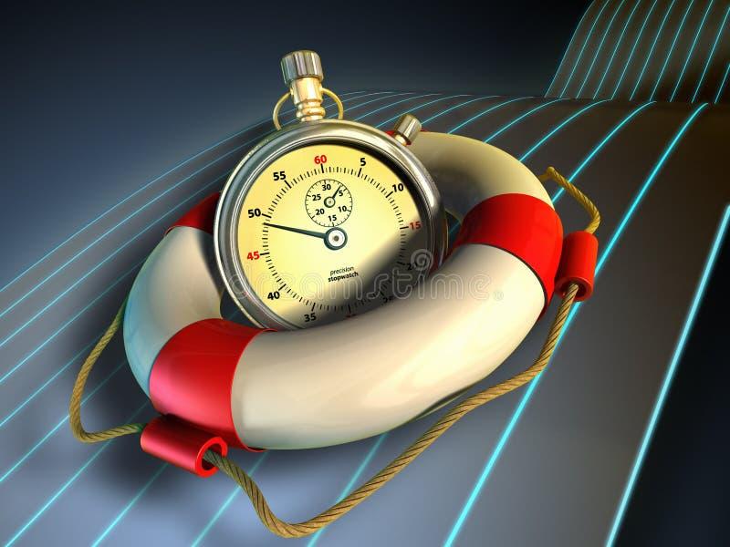 Risparmiatore di tempo illustrazione di stock