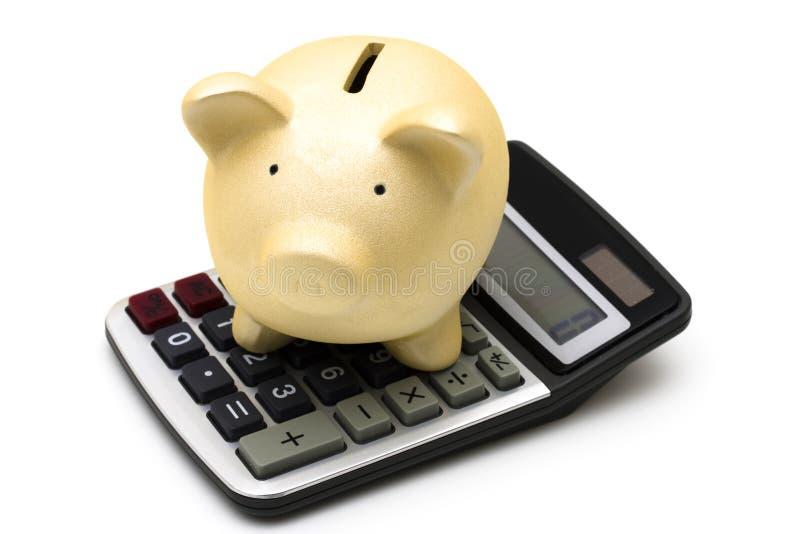 Risparmio calcolatore fotografia stock