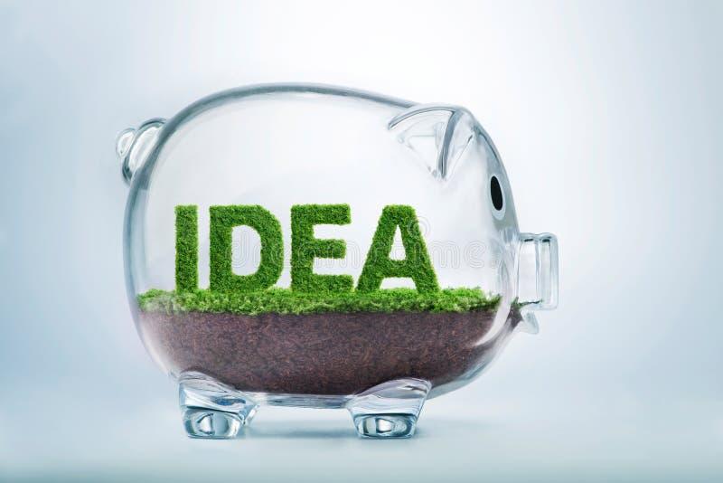 Risparmio di crescita dell'erba & concetto di idea di investimento fotografia stock libera da diritti