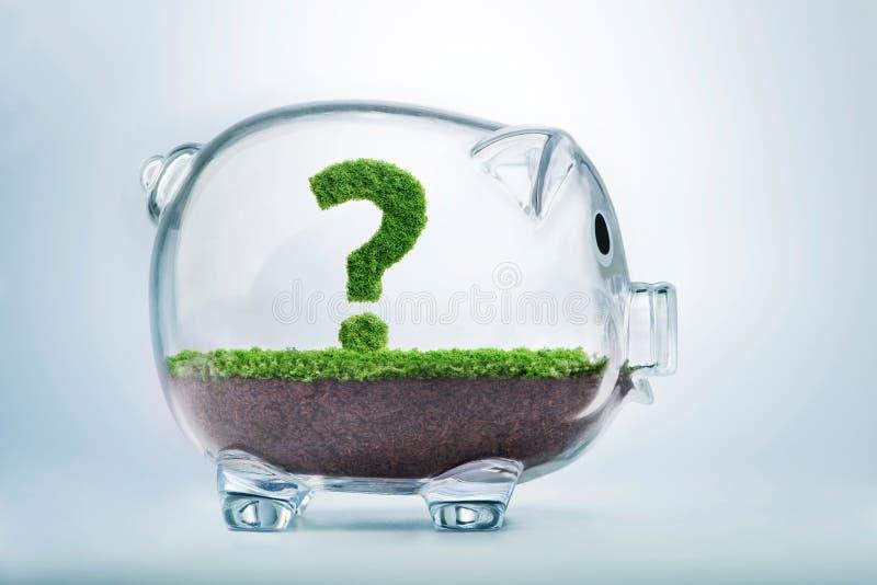 Risparmio di crescita dell'erba e concetto di domanda di investimento immagini stock libere da diritti