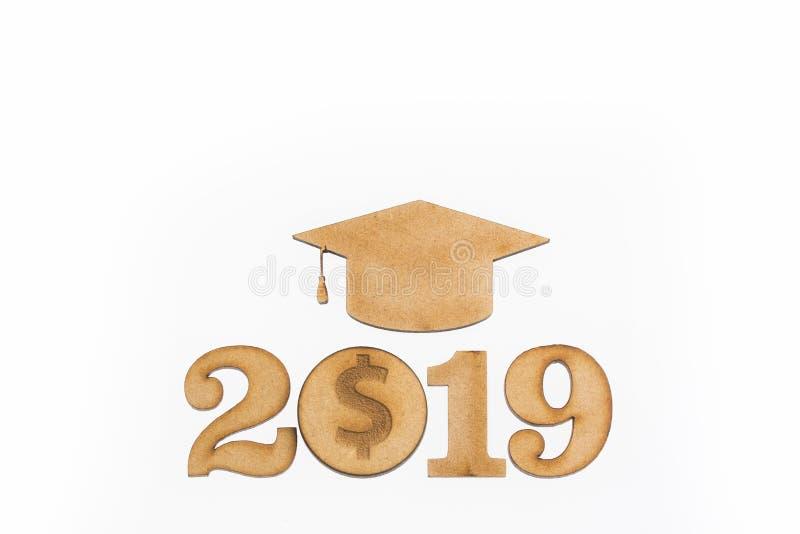 Risparmio 2019 di istruzione - concetto di risparmio Vista superiore fotografia stock