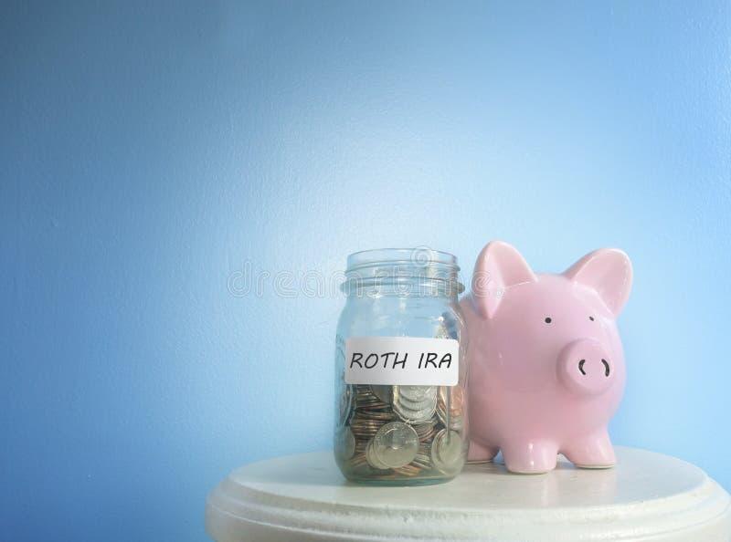 Risparmio di Roth IRA fotografia stock
