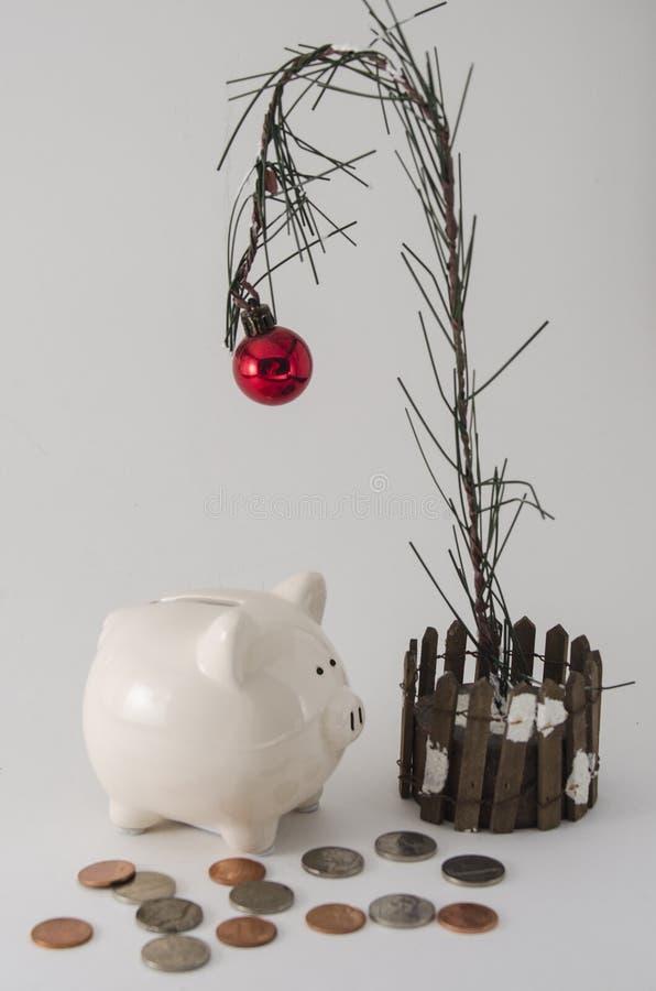 Risparmio e spesa di Natale immagine stock