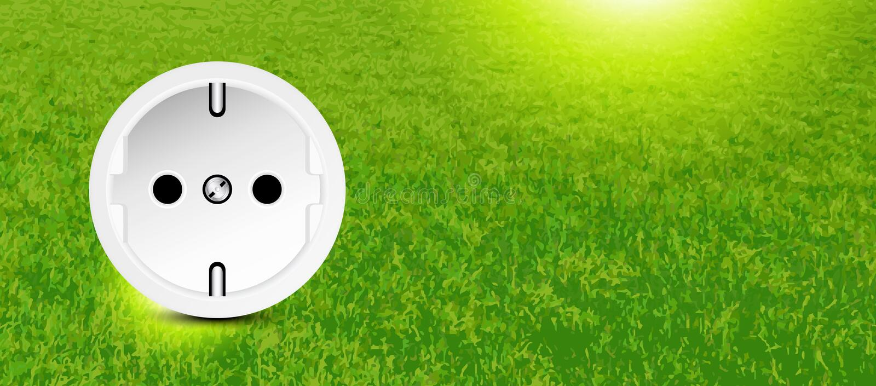 Risparmio energetico illustrazione vettoriale