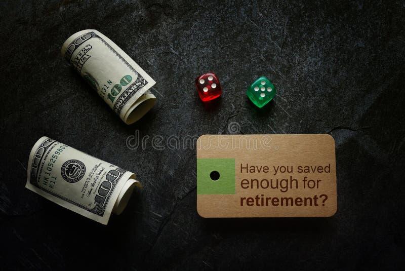 Risparmio per la pianificazione di pensionamento fotografia stock