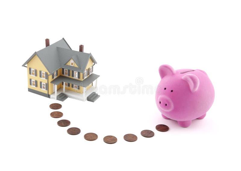 Risparmio per una casa immagini stock libere da diritti