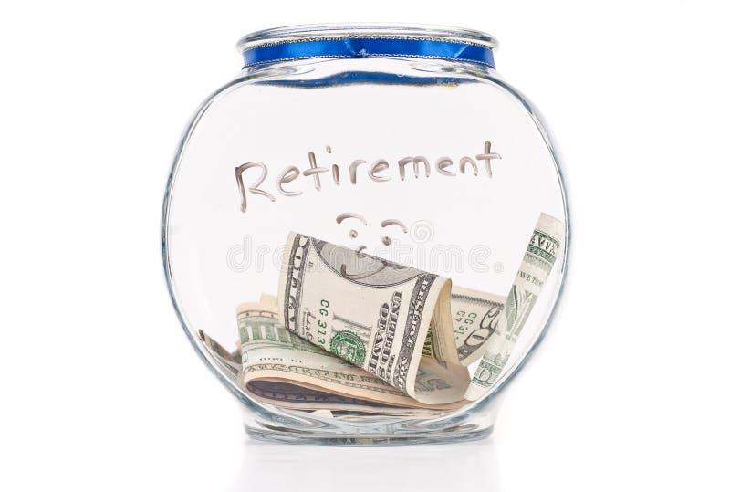 Risparmio in su per la pensione immagine stock