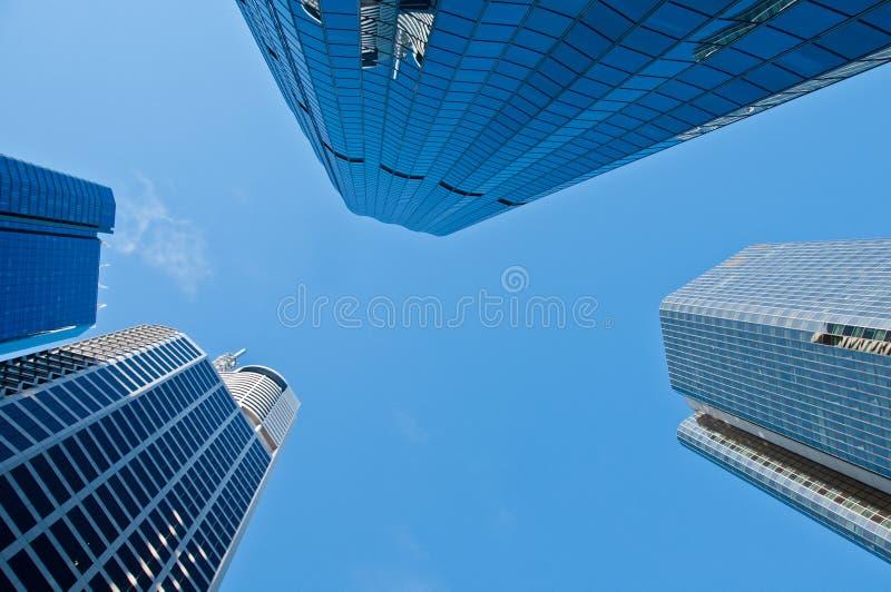 Rispetti gli edifici per uffici del grattacielo fotografia stock libera da diritti
