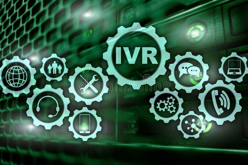 Risposta vocale interattiva di IVR Concetto di affari della call center fotografia stock libera da diritti
