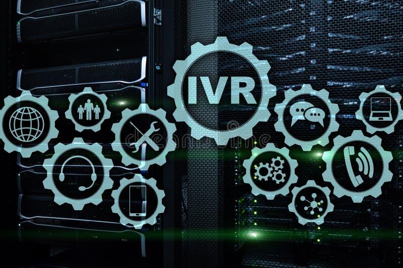 Risposta vocale interattiva di IVR Concetto di affari della call center fotografie stock