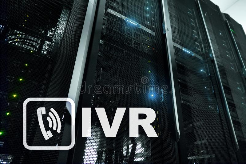 Risposta vocale interattiva di IVR Concetto di affari della call center fotografia stock