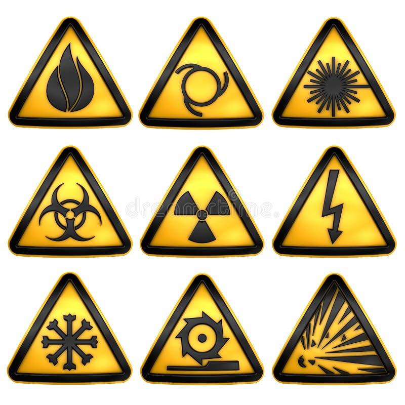 risque d 39 avertissement triangulaire de symboles illustration stock illustration du main. Black Bedroom Furniture Sets. Home Design Ideas