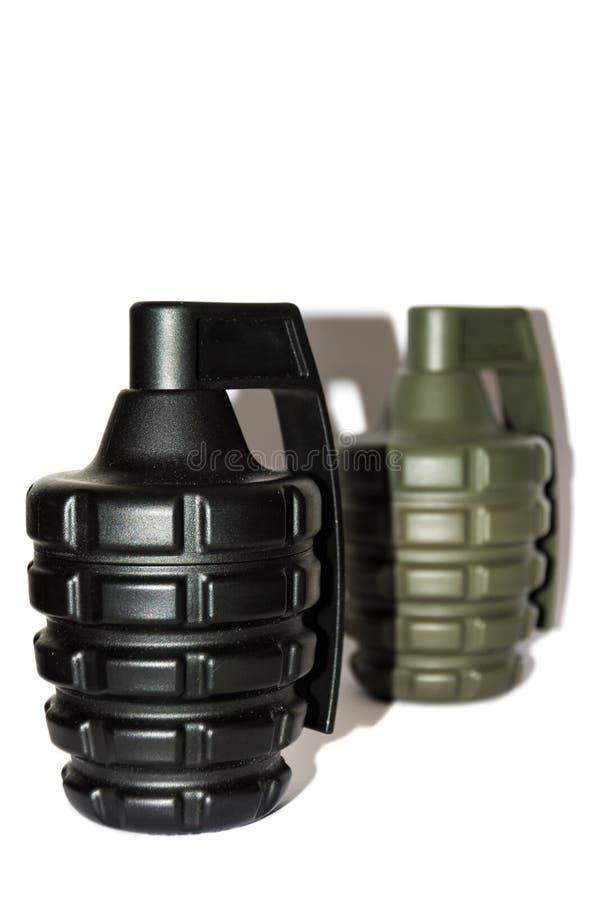 Risque d'explosion, grenades photo libre de droits