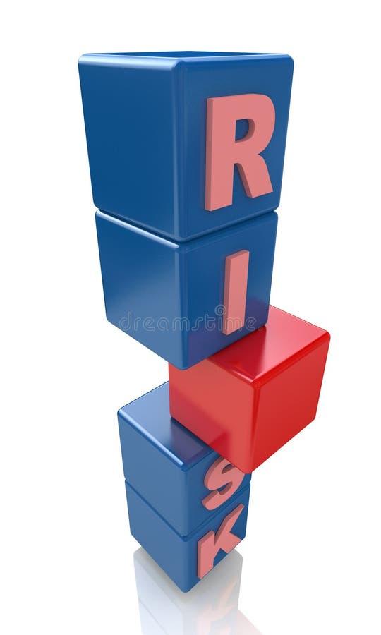 Risque de cubes illustration libre de droits