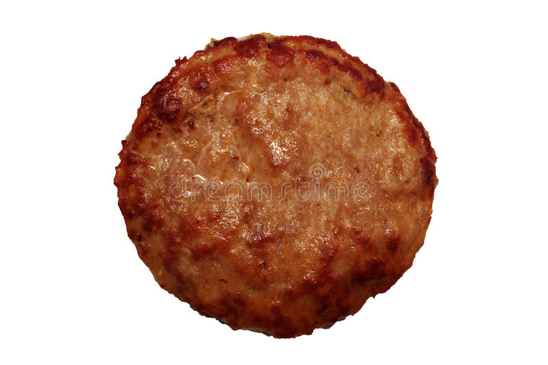 Rissol do Hamburger isolado imagens de stock royalty free