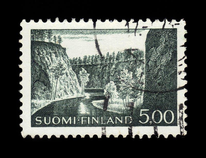 Ristikallio cerca de Avennonjoki en Kuusamo fotos de archivo