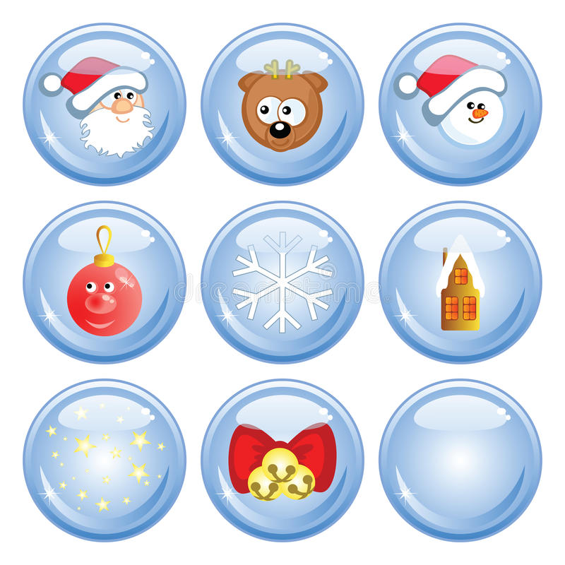 Free Сristmas Buttons Royalty Free Stock Images - 17581229