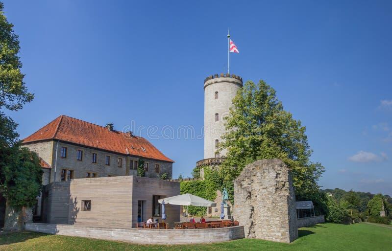 Ristorante al castello di Sparrenburg a Bielefeld fotografia stock libera da diritti